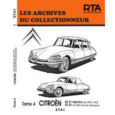 CITROËN DS21 INJ (70-72) - DS23 (73-fin) - Les Archives du Collectionneur n° 33
