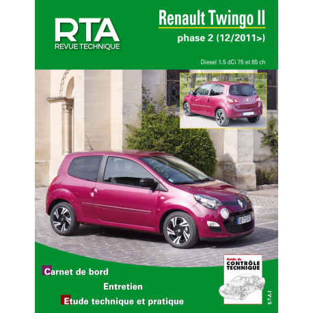 RTA B785.5 RENAULT TWINGO II PHASE 2 (2011 à 2014) - Diesel