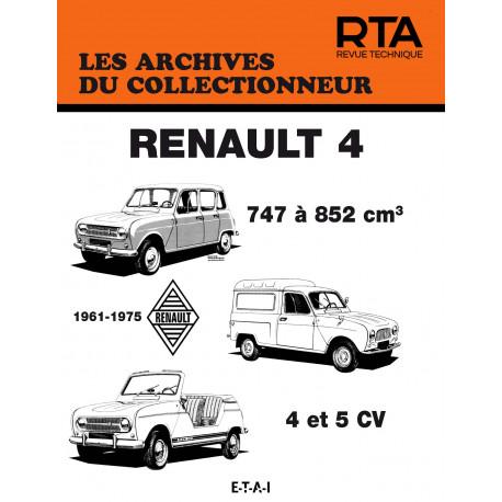 RENAULT 4 (4 ET 5 CV - (1961/1975)) - Les Archives du Collectionneur n°50