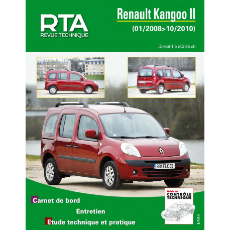 RENAULT KANGOO II 1.5 DCI (depuis 01/2008 jusqu'à 10/2010)
