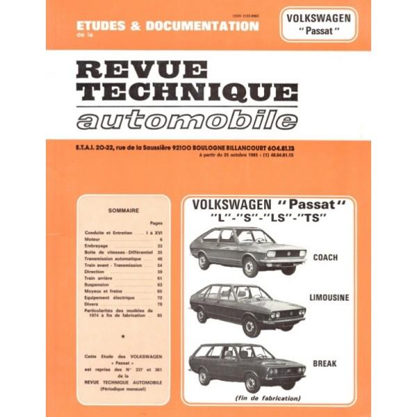 Revue Technique Volswagen passat 1973