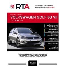 E-RTA Volkswagen Golf VII HAYON 5 portes de 10/2012 à 06/2017