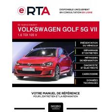 E-RTA Volkswagen Golf VII HAYON 3 portes de 10/2012 à 06/2017