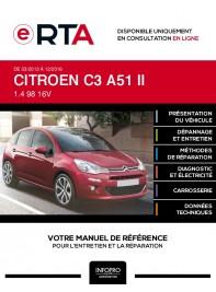 E-RTA Citroen C3 II HAYON 5 portes de 03/2013 à 12/2016
