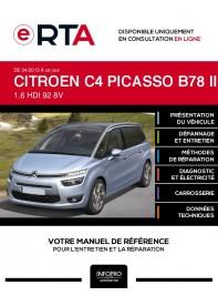 E-RTA Citroen C4 picasso II MONOSPACE 5 portes de 04/2013 à ce jour