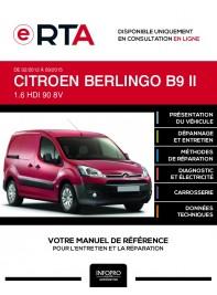 E-RTA Citroen Berlingo II FOURGON 5 portes de 02/2012 à 09/2015