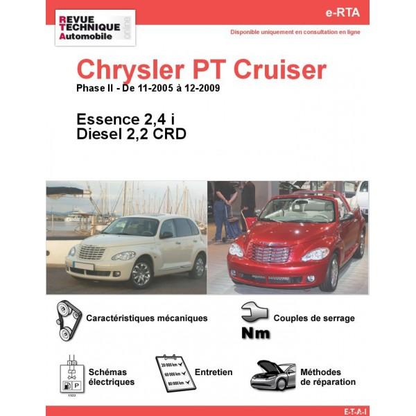 e-RTA Chrysler PT Cruiser Essence et Diesel (11-2005 à 12-2009)
