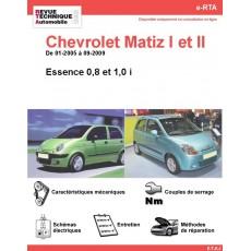 e-RTA Chevrolet Matiz I et II Essence (01-2005 à 09-2009)