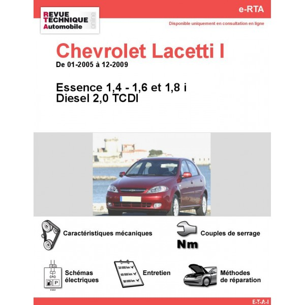 revue technique chevrolet lacetti i essence et diesel rta. Black Bedroom Furniture Sets. Home Design Ideas