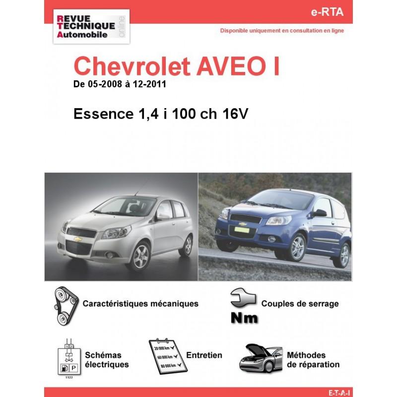 Revue Technique Chevrolet Aveo I Essence Rta Site Officiel Etai