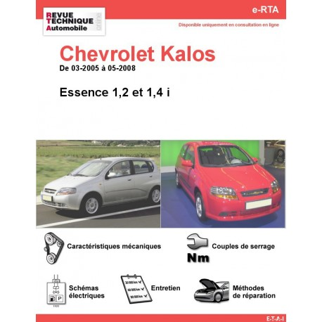 e-RTA Chevrolet Kalos Essence (03-2005 à 05-2008)