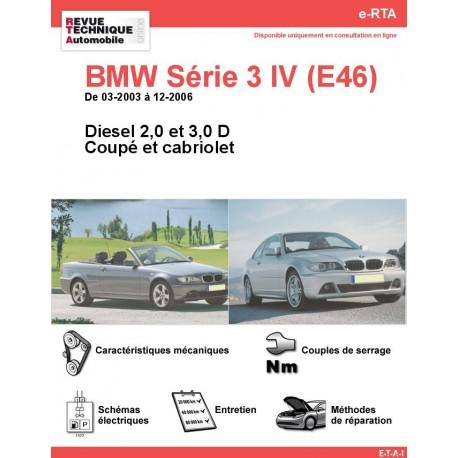 e-RTA BMW Série 3 IV (E46) Diesel (03-2003 à 12-2006) - Coupé et Cabriolet