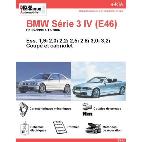 e-RTA BMW Série 3 IV (E46) Essence (05-1998 à 12-2006) - Coupé et Cabriolet