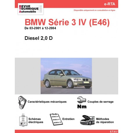 e-RTA BMW Série 3 IV (E46) Diesel (03-2001 à 12-2004)