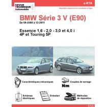 e-RTA BMW Série 3 V (E90/E91) Essence (09-2008 à 12-2011) - 4 et 5P