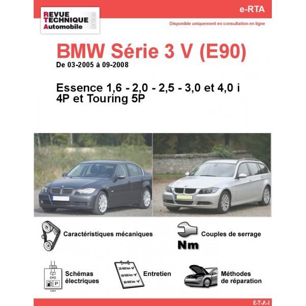 e-RTA BMW Série 3 V (E90/E91) Essence (03-2005 à 09-2008) - 4 et 5P