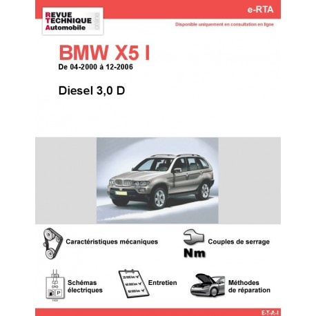 e-RTA BMW X5 I (E53) Diesel (04-2000 à 12-2006)