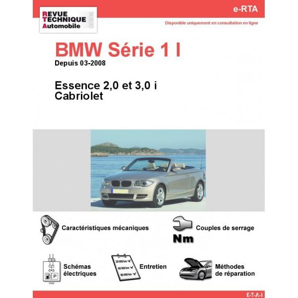 e-RTA BMW Série 1 I (E88) Essence (Depuis 03-2008)