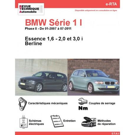 e-RTA BMW Série 1 I (E81/E87) Essence (01-2007 à 07-2011)