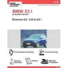 e-RTA BMW X3 I (E83) Essence (08-2006 à 08-2010)