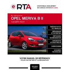 E-RTA Opel Meriva II MONOSPACE 5 portes de 11/2013 à ce jour