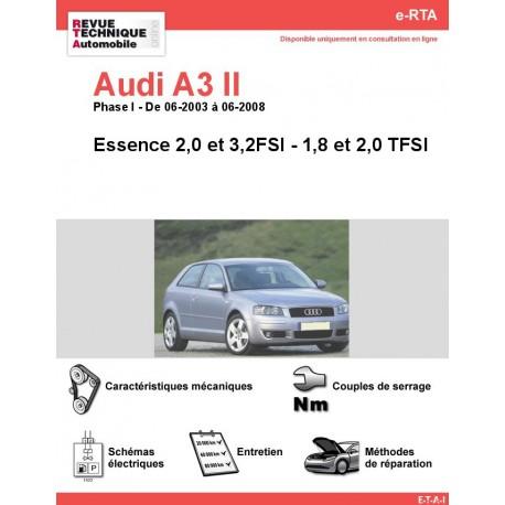 e-RTA Audi A3 II Essence sauf 1,6 FSI (06-2003 à 06-2008)