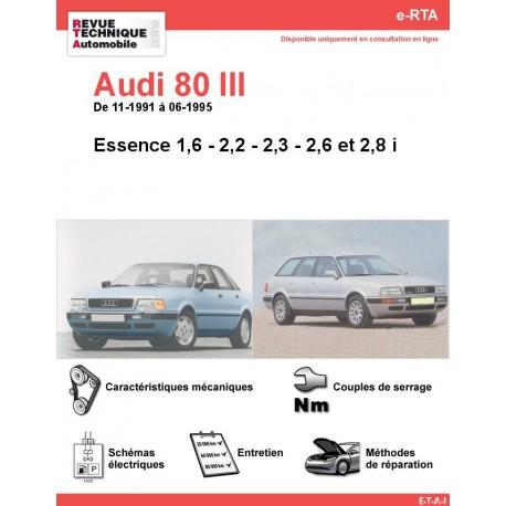 e-RTA Audi 80 III Essence sauf 2,0 i (11-1991 à 06-1995)
