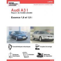 e-RTA Audi A3 I Essence (10-2000 à 06-2003)