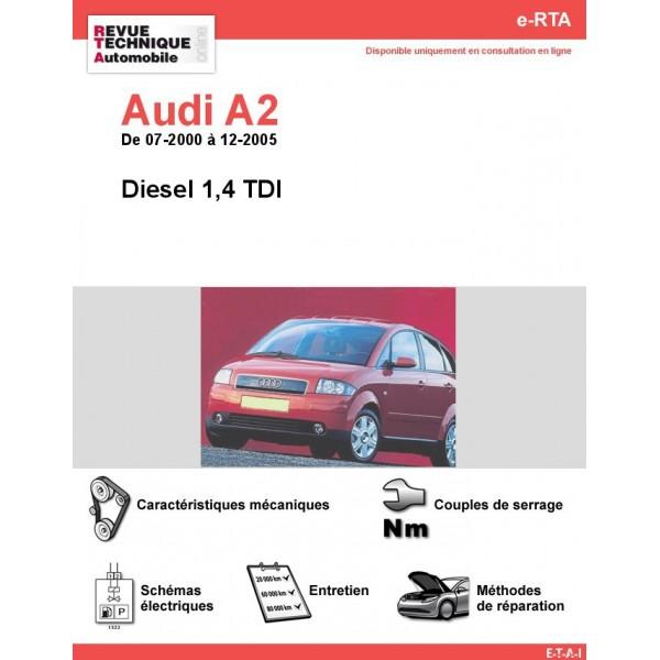 e-RTA Audi A2 Diesel (07-2000 à 12-2005)