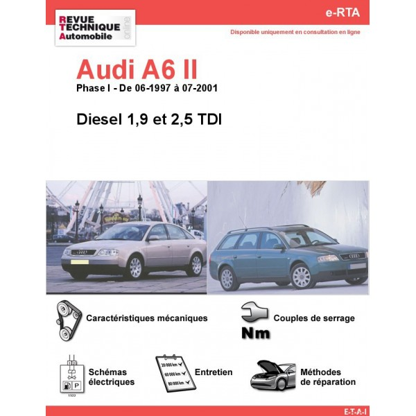 e-RTA Audi A6 II Diesel (06-1997 à 07-2001)