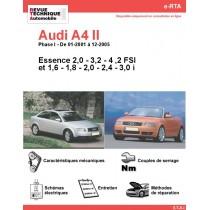 e-RTA Audi A4 II Essence (01-2001 à 12-2005)