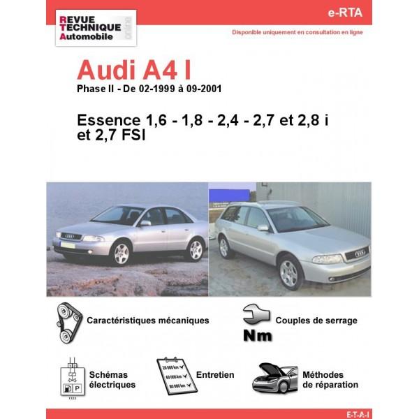 e-RTA Audi A4 I Essence (02-1999 à 09-2001)