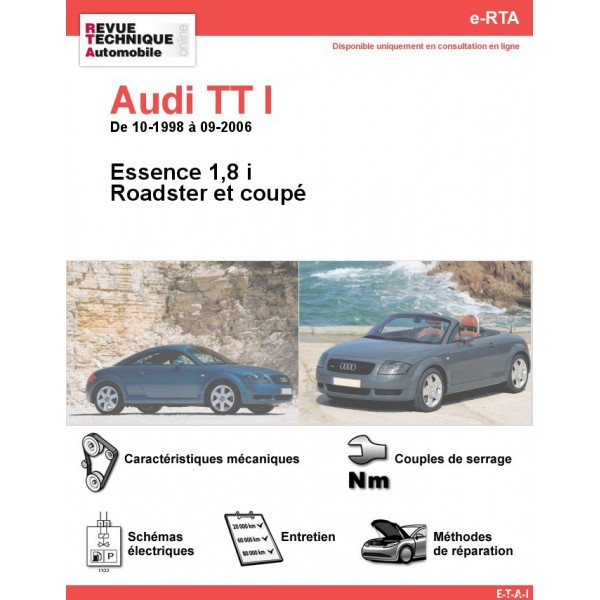 revue technique audi tt i essence rta site officiel etai. Black Bedroom Furniture Sets. Home Design Ideas