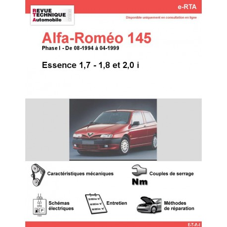 e-RTA Alfa-roméo 145 Essence (08-1994 à 04-1999)