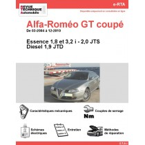 e-RTA Alfa-Roméo GT coupé Essence et Diesel (03-2004 à 12-2010)