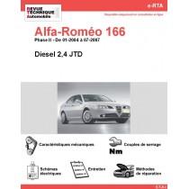 e-RTA Alfa-Roméo 166 Diesel (01-2004 à 07-2007)