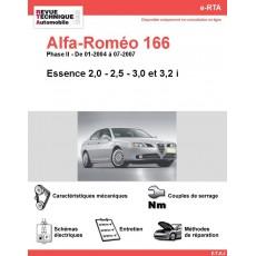 e-RTA Alfa-Roméo 166 Essence (01-2004 à 07-2007)