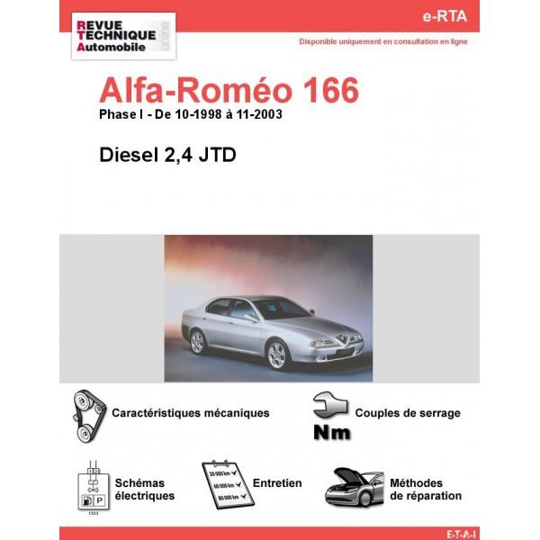 e-RTA Alfa-Roméo 166 Diesel (10-1998 à 11-2003)