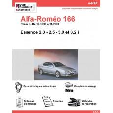 e-RTA Alfa-Roméo 166 Essence ( 10-1998 à 11-2003)