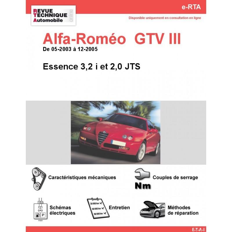 Revue Technique Alfa-Roméo GTV III Essence (RTA)
