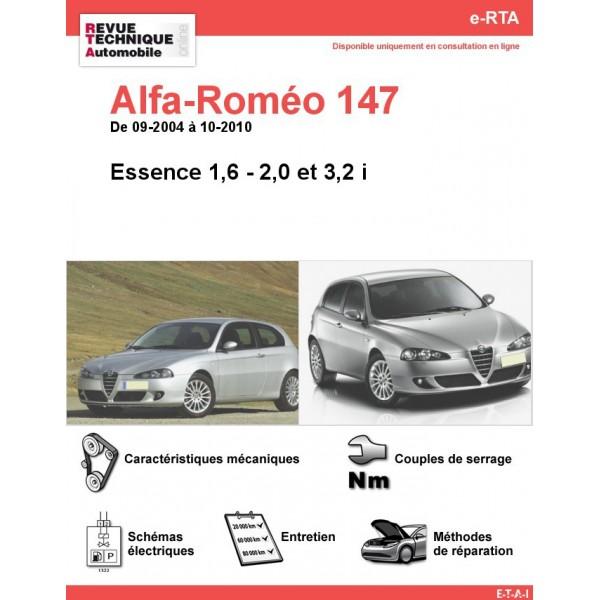 revue technique alfa rom o 147 essence rta site officiel etai. Black Bedroom Furniture Sets. Home Design Ideas