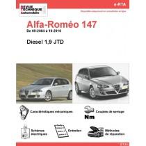 e-RTA Alfa-Roméo 147 Diesel (09-2004 à 10-2010)