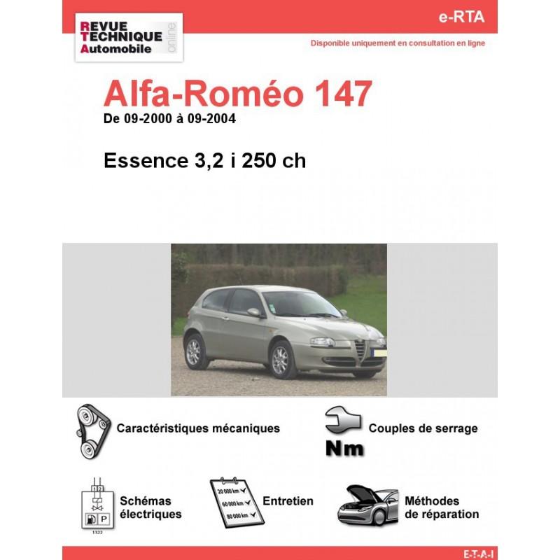 revue technique alfa rom o 147 essence 3 2 i 250 ch rta site officiel etai. Black Bedroom Furniture Sets. Home Design Ideas