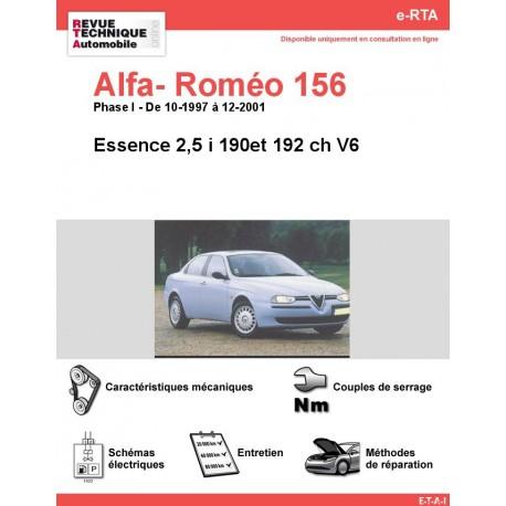 e-RTA Alfa- Roméo 156 Essence 2,5 i ( Phase I: 10-1997 à 12-2001)