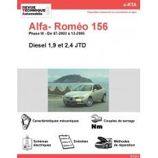 e-RTA Alfa- Roméo 156 Diesel (07-2003 à 12-2005)