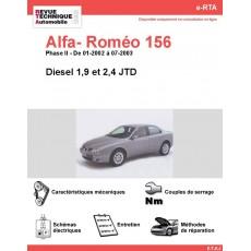 e-RTA Alfa- Roméo 156 Diesel (01-2002 à 07-2003)