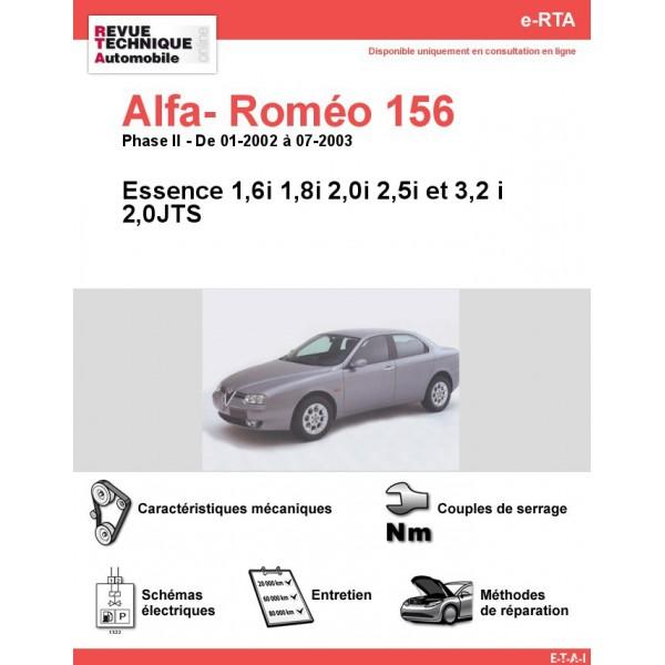 e-RTA Alfa- Roméo 156 Essence  (01-2002 à 07-2003)