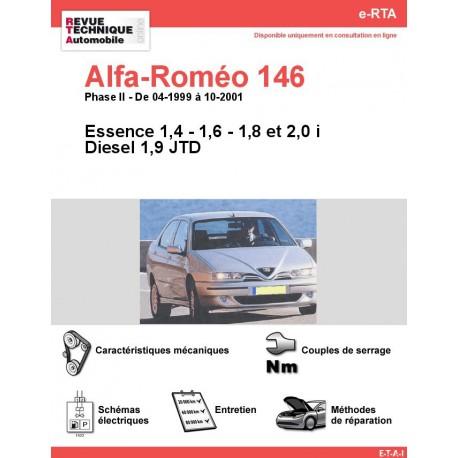 e-RTA Alfa-roméo 146 Essence et Diesel (04-1999 à 10-2001)
