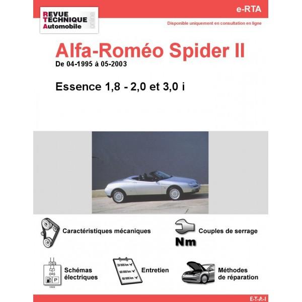 e-RTA Alfa-Roméo Spider II Essence (04-1995 à 05-2003)