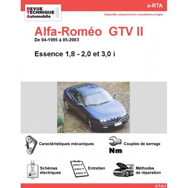 e-RTA Alfa-Roméo  GTV II Essence (04-1995 à 05-2003)